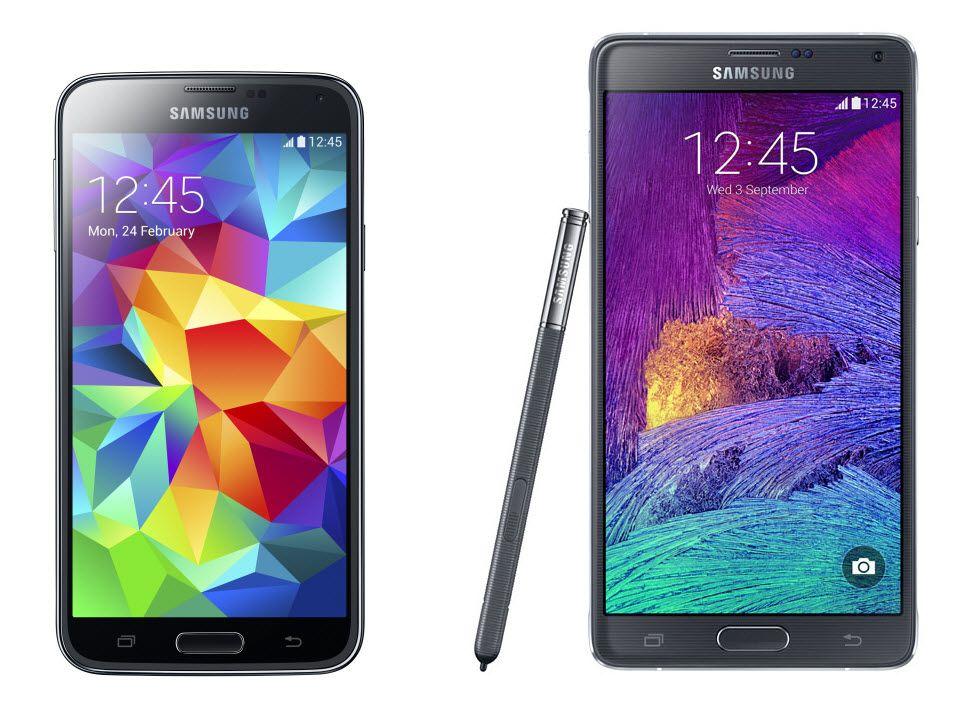 Samsung Galaxy Note 4 Vs Galaxy S5 Los Mas Grandes Telefonos
