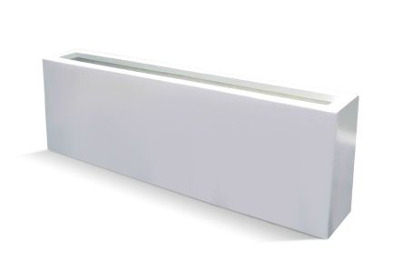 Camoux White Fiberglass Planter Box Large Outdoor Furniture In