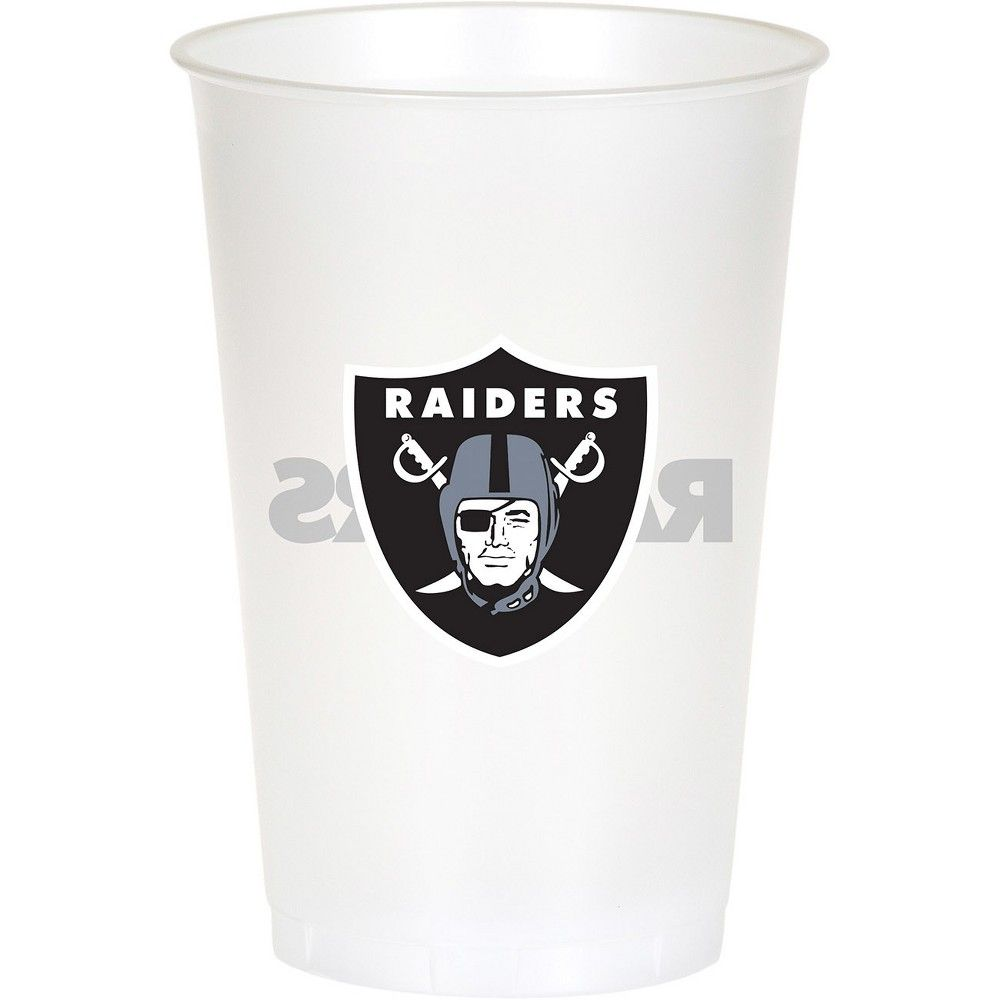 Pack of 20 NFL Oakland Raiders Disposable Paper Cups