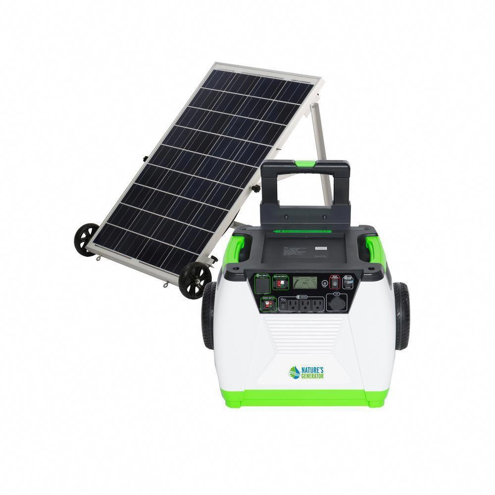 Nature S Generator 1800 Watt Solar Powered Portable Generator With Electric Start Gxngau Solar Energy Panels Solar Power Panels Solar Panels