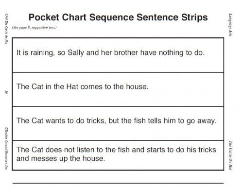 Cat in the Hat Sequence Strips Book Box Ideas Pinterest Free - arithmetic sequence example