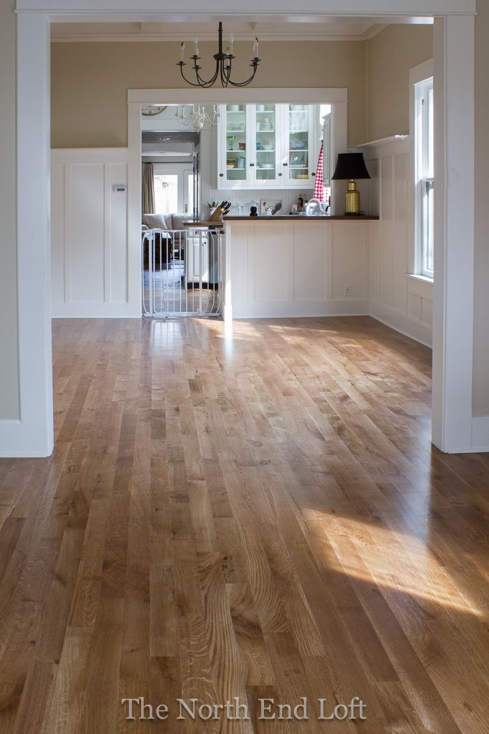 The north end loft new hardwood floors reveal min wax for Wood flooring specials