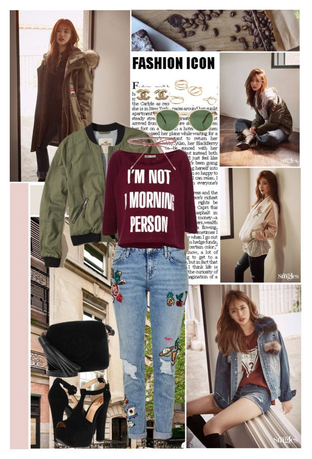 """""""My feelings grow and I can not hide it any more"""" by angiielf ❤ liked on Polyvore featuring Hollister Co., Topshop, Pull&Bear, Luichiny, Elizabeth and James, Oliver Peoples, Anya Hindmarch and MANGO"""