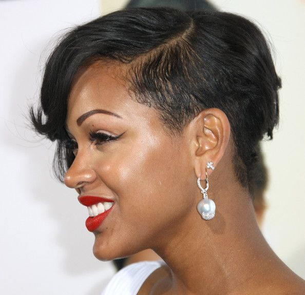 Meagan Good Photos Photos Premiere Of Screen Gems Think Like A Man Arrivals Short Hair Haircuts Meagan Good Short Hair Cool Short Hairstyles