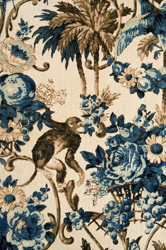 Monkey Puzzle Velvet Fabric Heavyweight printed velvet fabric. This fabric has an elegant teal ...