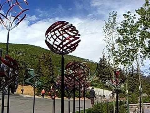 Kinetic Wind Sculptures - Vail Colorado - YouTube | Wind Sculpture ...