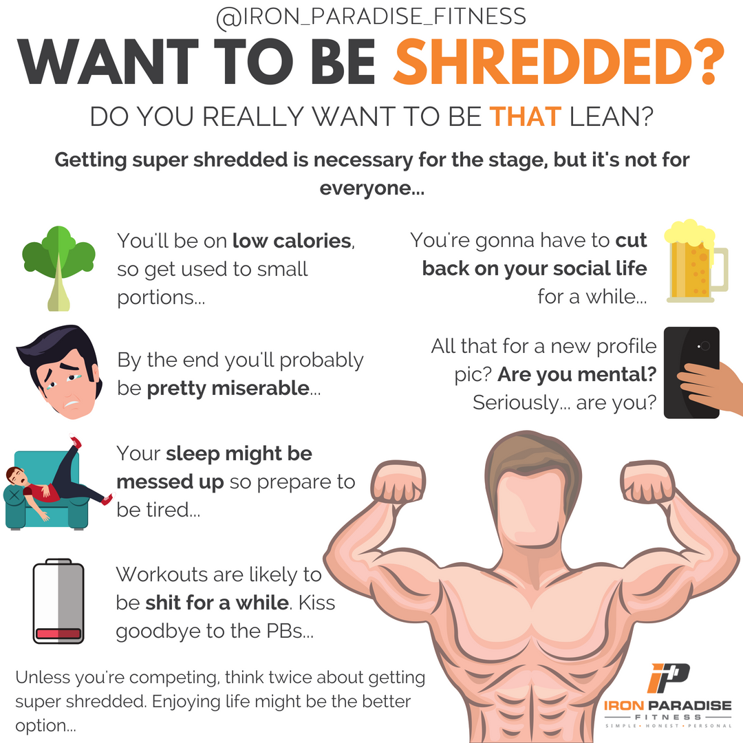 DO YOU REALLY WANT TO BE SHREDDED? 🔥. . Getting Shredded