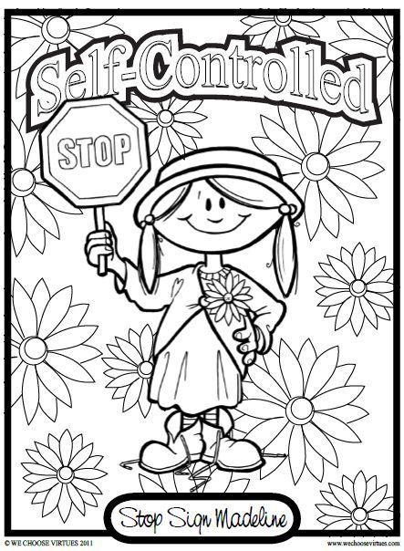 Printable Colouring Pages Fruit Of The Spirit Self Control For Kids