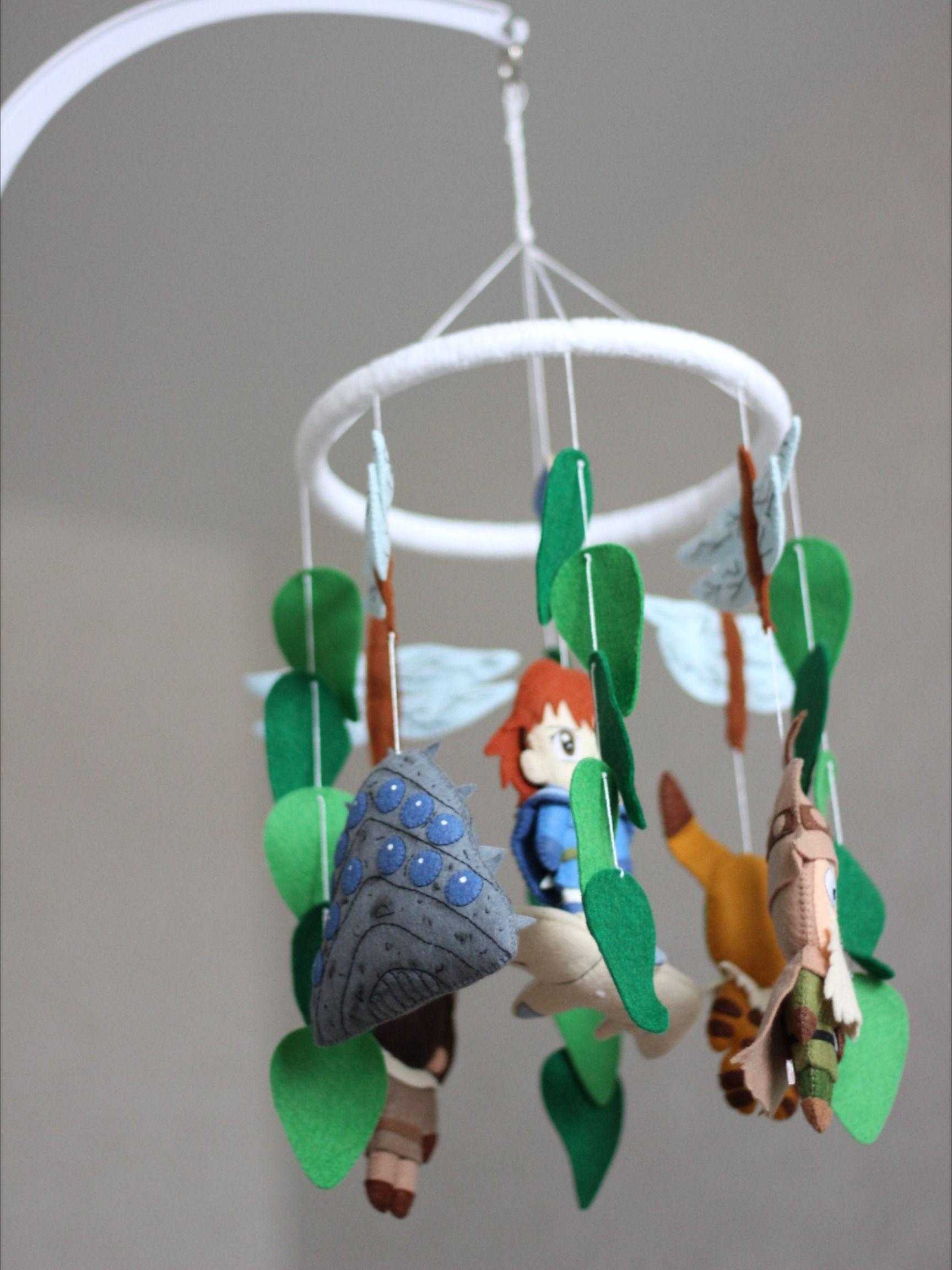 Geek baby shower ideas Anime nursery mobile Nausicaa Fox