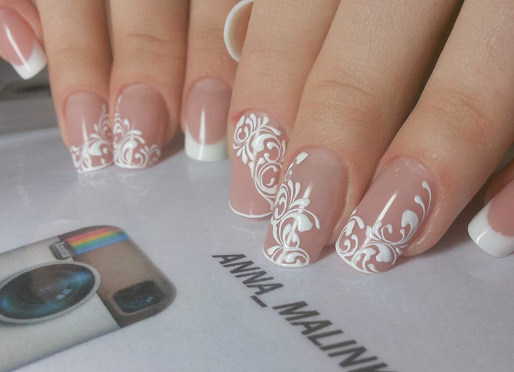 Свадебные дизайн ногтей