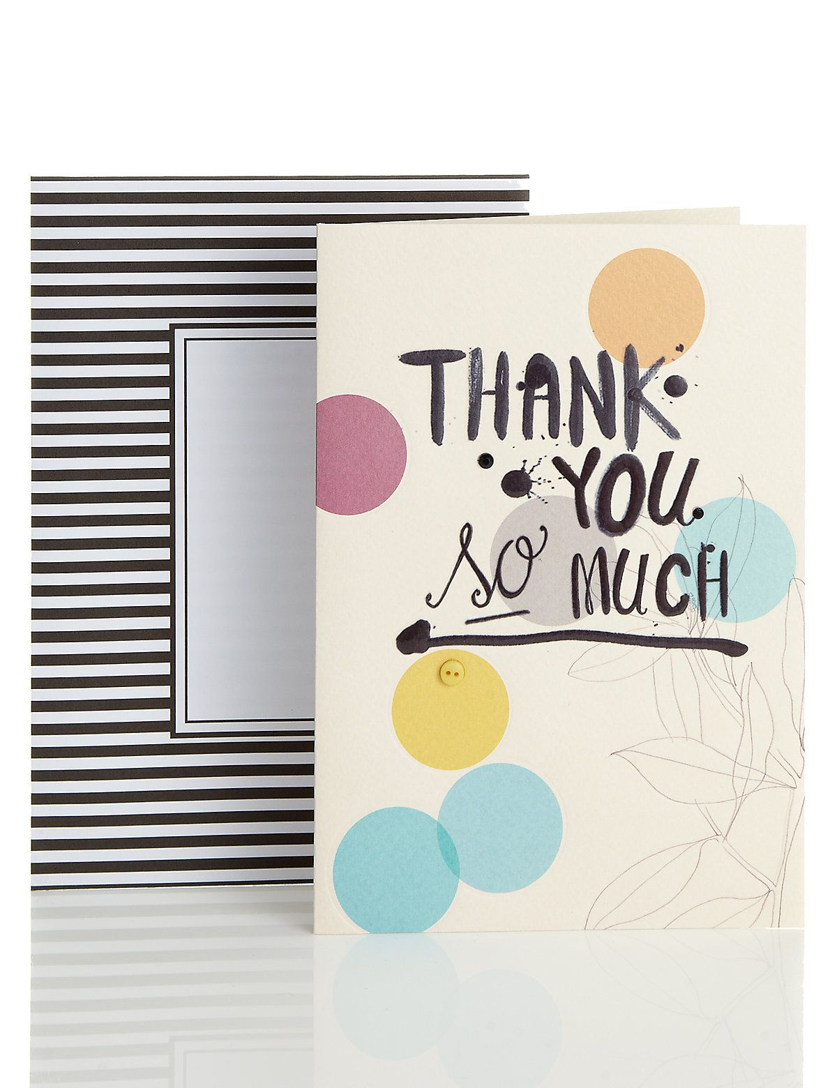 Thank you spots button greetings card ms art journalling thank you spots button greetings card ms kristyandbryce Image collections