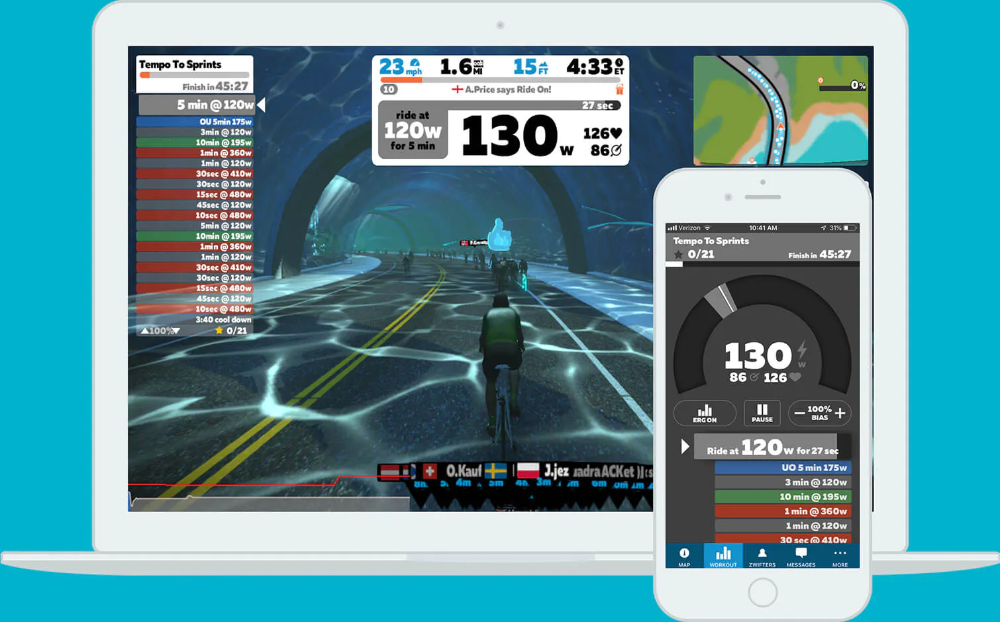 The at Home Cycling & Running Virtual Training App in 2020