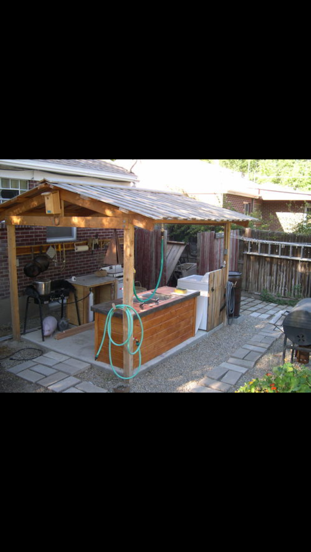 Outdoor Canning Kitchen Screened In Porch Canning Kitchen Outdoor Kitchen Backyard Plan