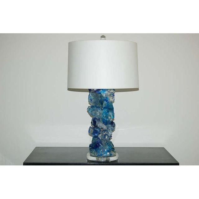 Image of Rock Candy Glass Lamps in Cobalt Crystal