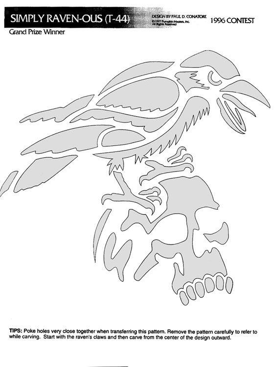 raven pumpkin template  Image detail for -Simply Raven-ous Pumpkin Stencil in 5 ...