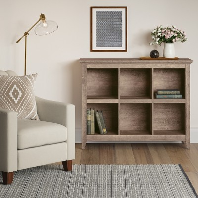 Carson 6 Bin Organizer Bookcase Rustic Threshold