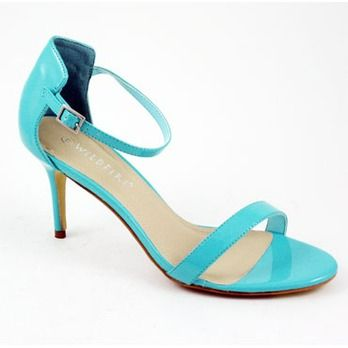 d6970b362c0 Turquoise low heel sandal from Spend-Less Shoes Unleash