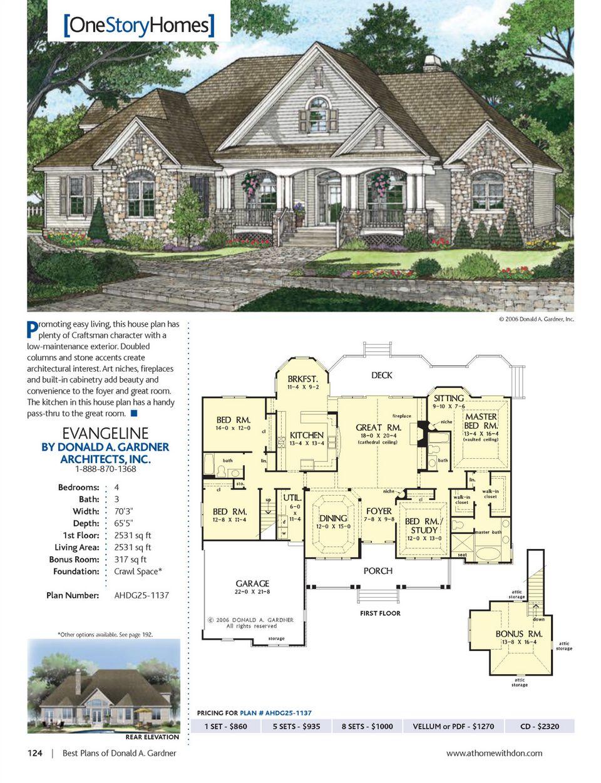 Designer Dream Homes  Best Plans Of Donald A. Gardner