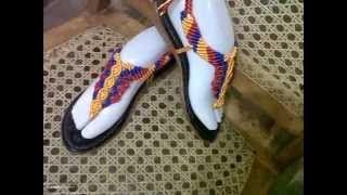 sandalias en macrame - YouTube