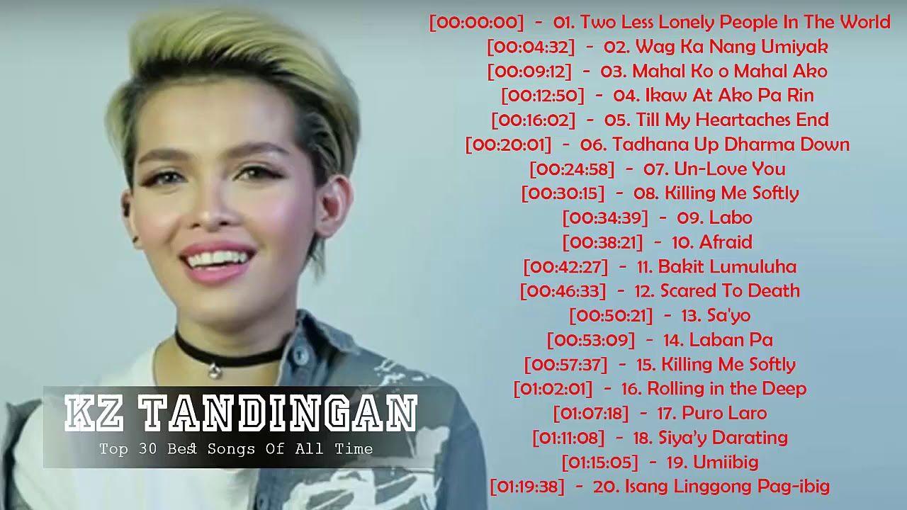 KZ Tandingan OPM Tagalog Love Songs - Best songs KZ Tandingan - KZ