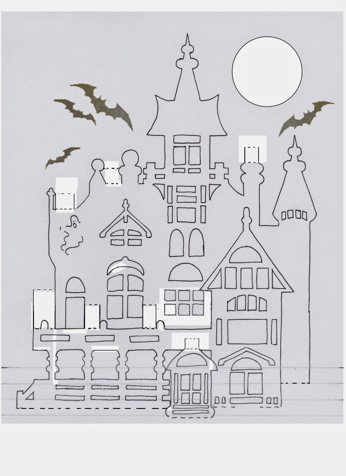 Laura S Frayed Knot Haunted House Pop Up Pop Up Cards Kirigami Paper Pop