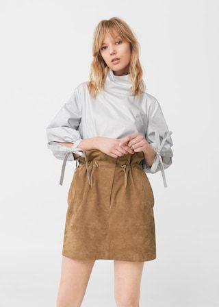 80bfa85bcd22 Mockakjol dragsnöre - Damer | montenegro | Suede skirt, Leather ...