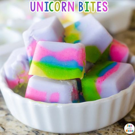 Unicorn Inspired Food Unicorn Yogurt Bites - Birthday party food, Birthday party menu, Unicorn party food, Unicorn themed birthday party, Unicorn themed birthday, Toddler birthday party - Looking for unicorn birthday party ideas  Well here is a mystical and enchanted unicorn inspired food idea    Unicorn yoghurt bites!! These are easy to make and the kids will love helping you put it all together! I have