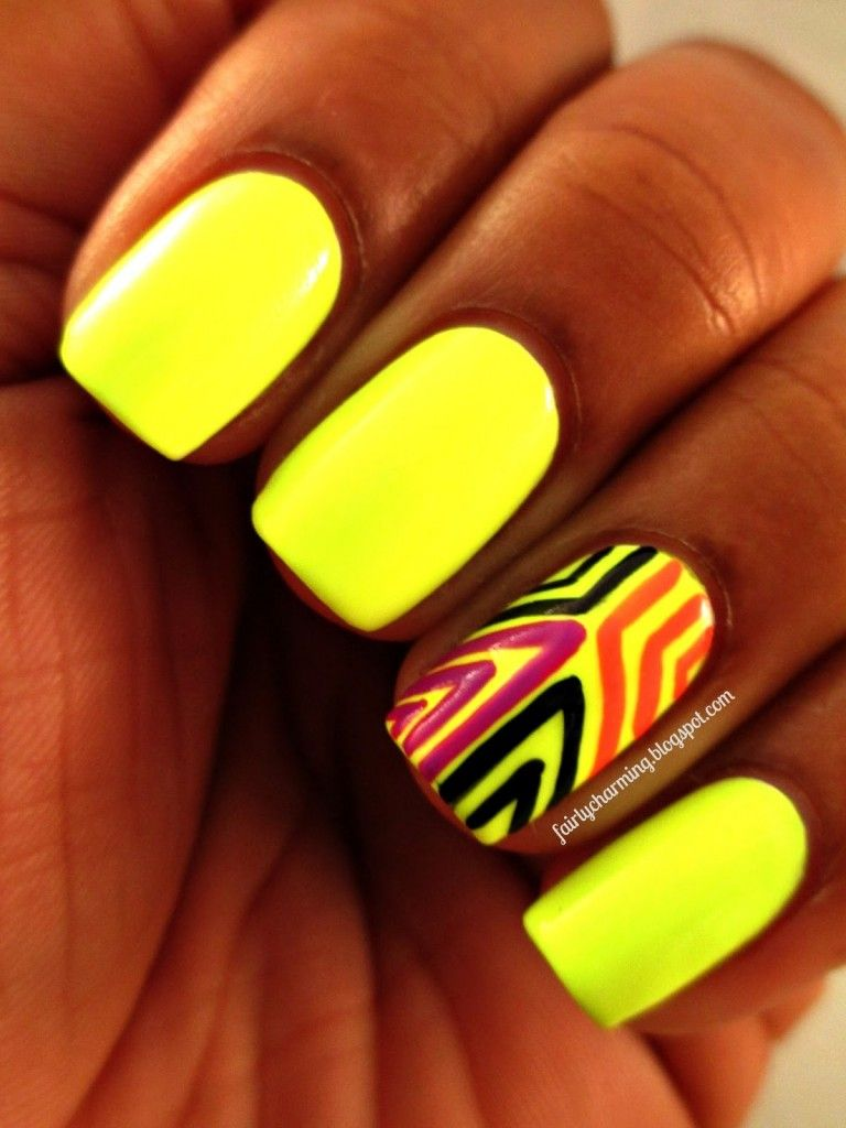 15 Neon Nail Design Ideas - Always in Trend   Always in Trend ...