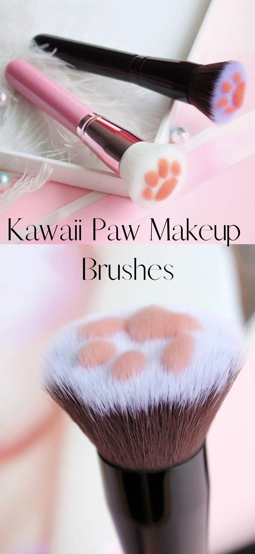 Pawsome Makeup Brushes Kawaii makeup, Makeup brushes, Makeup