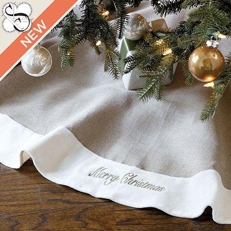 Suzanne Kasler Linen Velvet Tree Skirt By Ballard Designs