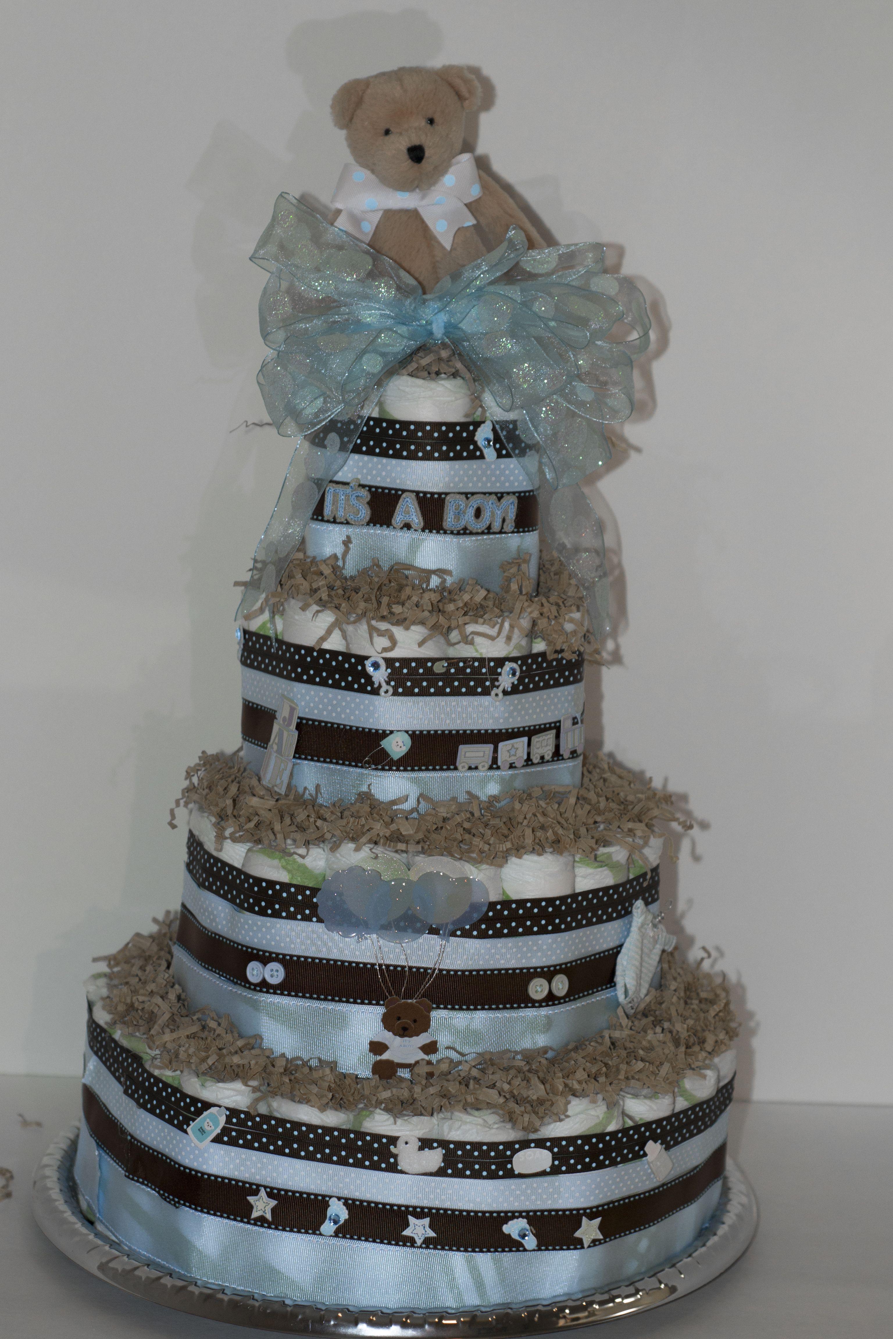 Diaper Cake  Bolo de fraldas