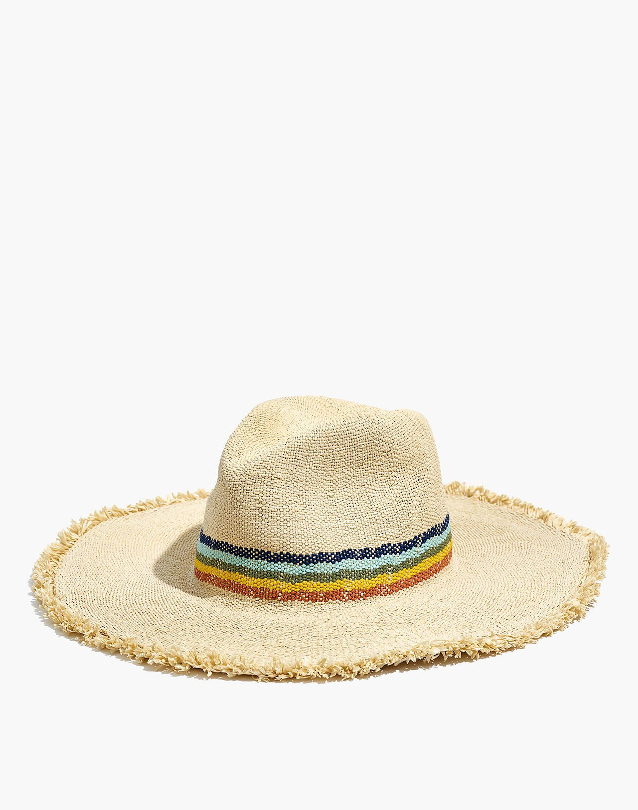 e170135db02be Madewell x Biltmore® Wide-Brimmed Rainbow Straw Hat Sun Hats