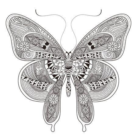 Hermosa mariposa — Vector de stock | Mariposas 01 | Pinterest ...