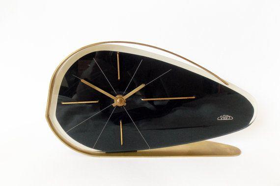 RARE 1960s PRIM  Brusel style Vintage table clock/Made in Czechoslovakia /PRIM/Alarm clock / Retro alarm clock /Antique/Mid century