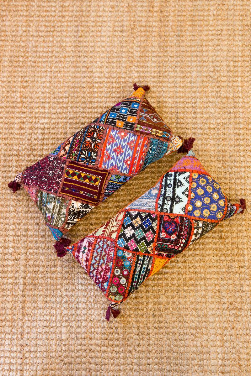 Tree of life leyla rectangular cushions embroidered tassels