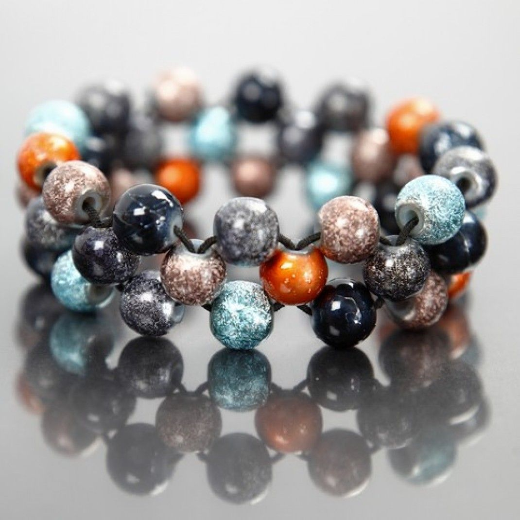 how to make beaded bracelets with elastic cord