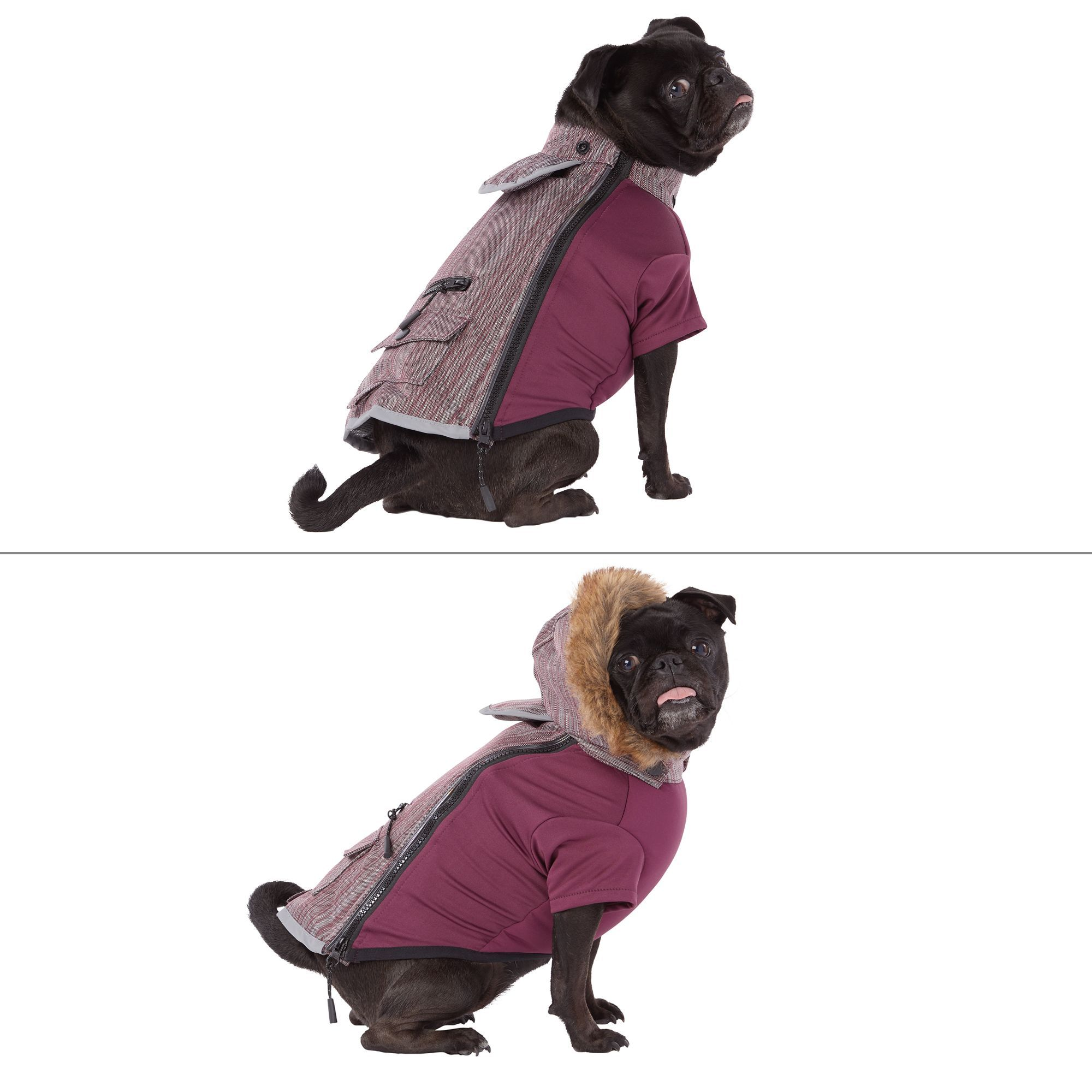 Top Paw® Reflective LED Pet Coat dog Sweaters & Coats