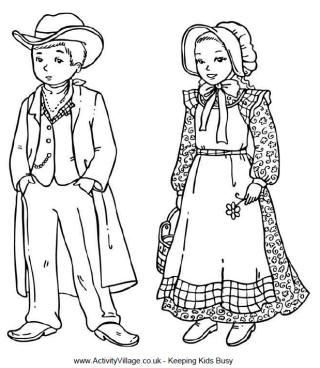 Wild West Colouring Page Coloring Books And Embroidery Transfers