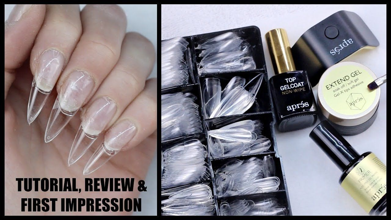 Apres Gel X Nail Extension System Tutorial Review First Impression Youtube Nail Extensions Gel Nail Extensions Gel Nails