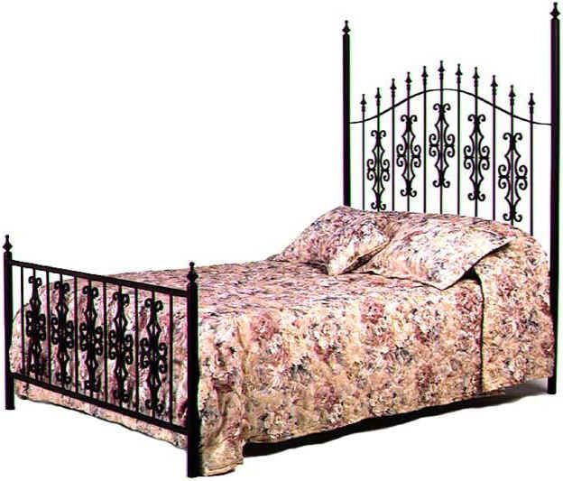 Gothic Gate Wrought Iron Bed