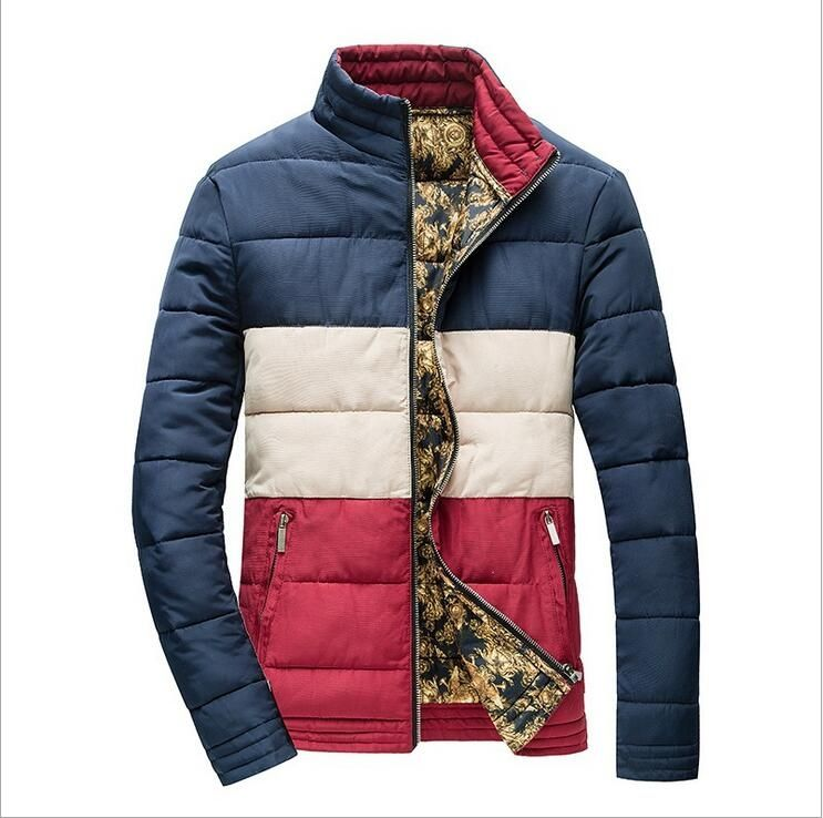 ONTBYB Mens Warm Long Faux Fur Hoodie Down Quilted Coat Jacket Parka