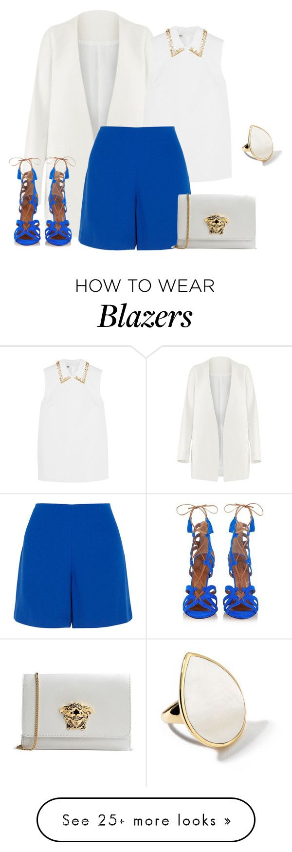 """""""outfit 3306"""" by natalyag on Polyvore featuring Non, Aquazzura, Miu Miu, Opening Ceremony, Ippolita, Versace, women's clothing, women, female and woman"""