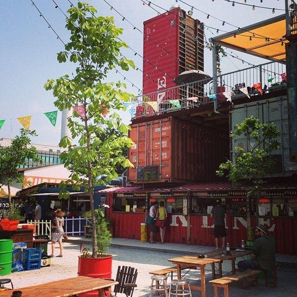 Frau Gerolds Garten Beach Bar And Lounge Escher Wyss Zurich Places To Go Zurich Container Architecture