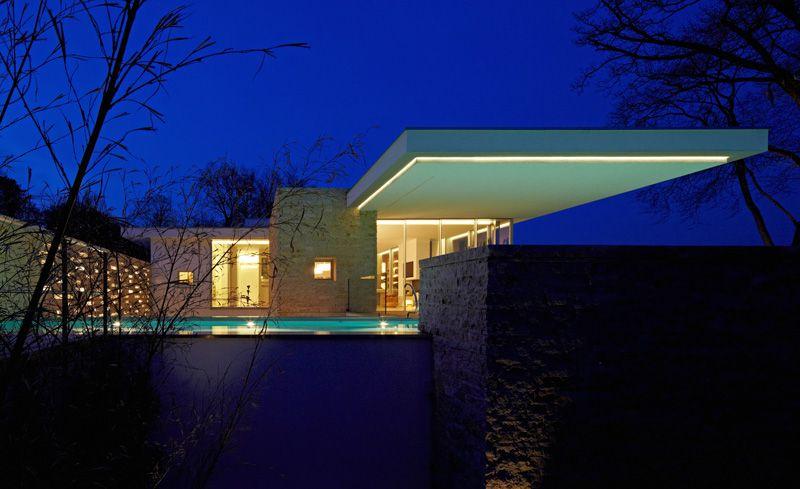 Maison californienne contemporaine en pierres Architecture