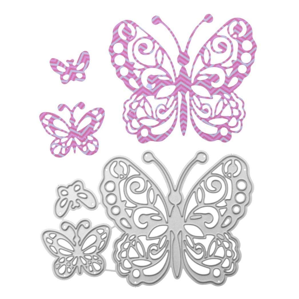 Heart Butterfly Metal Die Cuts Cutting Dies Cut Stencils for DIY Scrapbooking Photo Album Decorative Embossing Paper Dies for Card Making Template