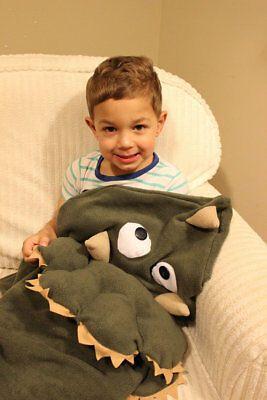 Dinosaur Blanket, Dino Blanket, Triceratops Blanket, Dinosaur Fleece Blanket Bag