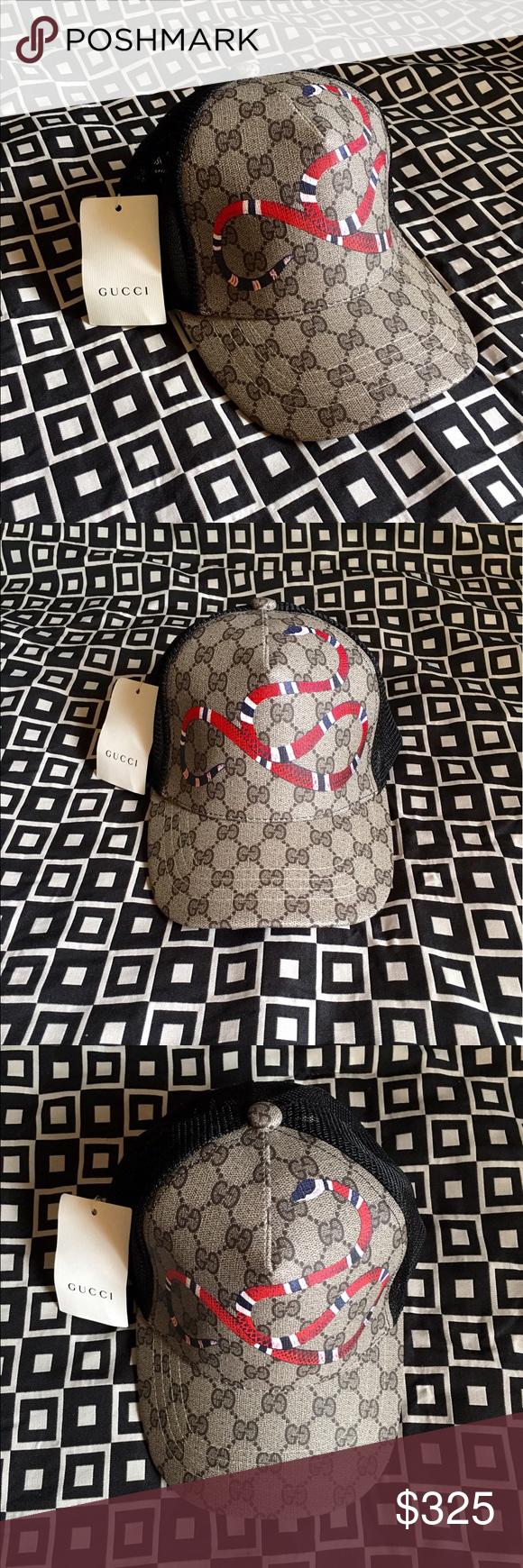 Gucci GG KingSnake Print Hat!!! Gucci GG KingSnake Print Baseball ... 078b3f1f1429