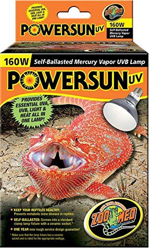 Zoo Med Powersun Uv Mercury Vapor Lamp 160 Watts Powersun Uv Zoo Med Ad Reptile Supplies Reptile Lights Pet Supplements