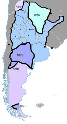 Mapa Historico De La Conquista Del Desierto Mapa Historico