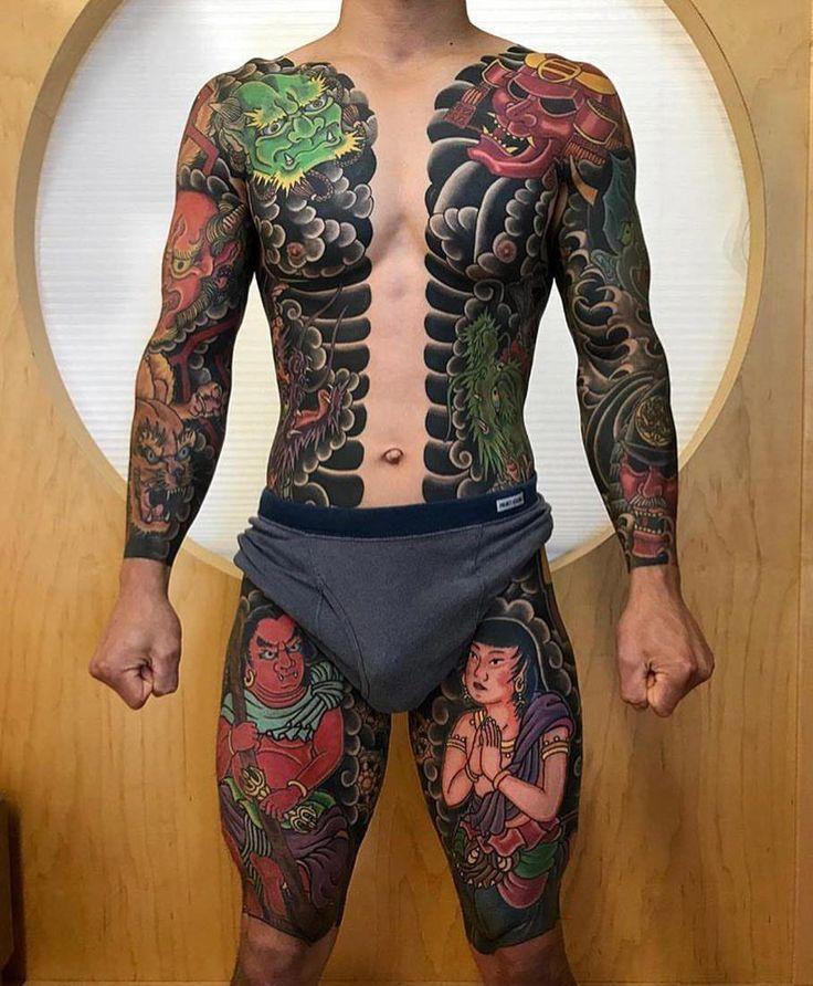 Yakuza tattoo leg ; yakuza tattoo bein ; jambe de tatouage